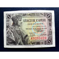 BILLETE DE 1 PESETA DE 1951