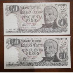 ARGENTINA BILLETE 50 pesos