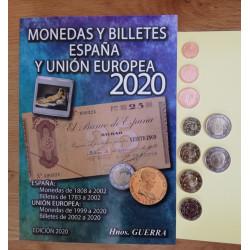 CATALOGO MONEDAS Y BILLETES 2020 Y EUROS ESPAÑA 2020