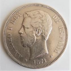 5 PESETAS AMADEO 1871*71