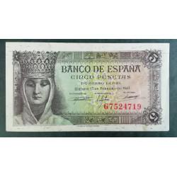 BILLETE DE 5 PESETA DE 1943