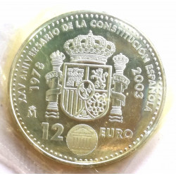 MONEDA DE 12€ PLATA 2003