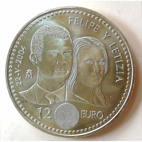 12€ PLATA BODA REAL 2004