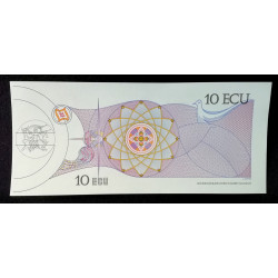 BILLETE DE 10 ECUS EXPO 92