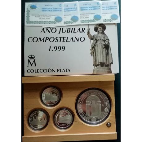 Estuche Plata. Serie Completa AÑO JUBILAR COMPOSTELANO 1999 -.
