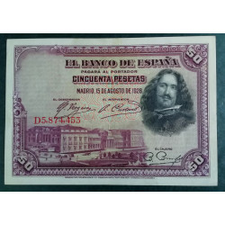 50 PESETAS 15 AGOSTO 1928