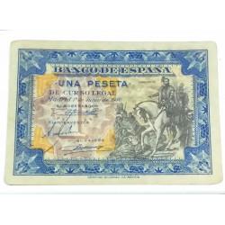 BILLETE DE 1 PESETA DE 1940 1 JUNIO