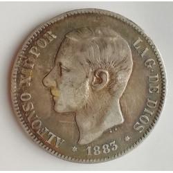 5 PESETAS ALFONSO XII 1883