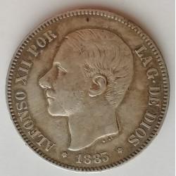 5 PESETAS ALFONSO XII 1883*83