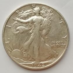 Medio dólar 1942