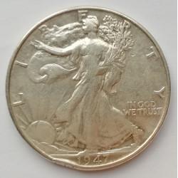 Medio dólar 1947