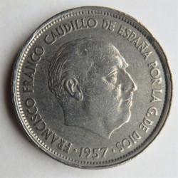 25 PESETAS 1957 * 58
