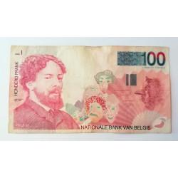 Billete de 100 francos Bélgica James Ensor