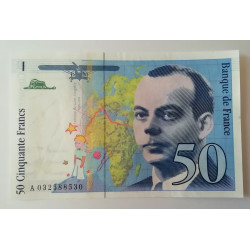 Billete 50 francos El Principito