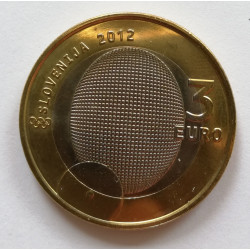 3 euros Eslovenia 2012