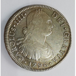 8 REALES CARLOS IV 1796 MEJICO