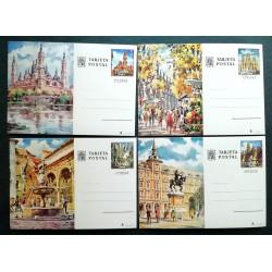 Entero postales Barcelona, Córdoba, Madrid y Zaragoza