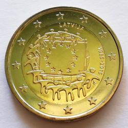 2 € LETONIA BANDERA 2015
