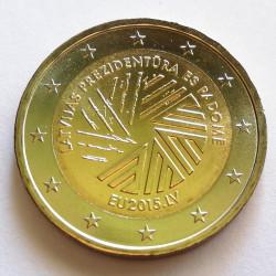 2 € LETONIA PRESIDENCIA EN LA UE 2015