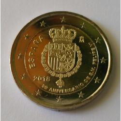 2 EUROS - 50º Aniversario del Rey Felipe VI 2018