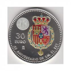 30 Euro - 50 Aniversario de S.M. el Rey Don Felipe VI 2018