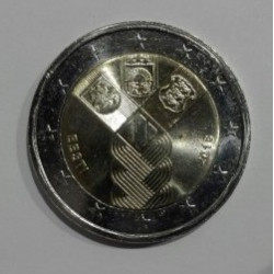 2 EUROS Estonia2018 Centenario de la Fundación de los Estados Bálticos Independientes