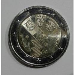 2 EUROS Lituania2018 Centenario de la Fundación de los Estados Bálticos Independientes