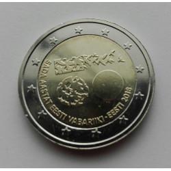 2 EUROS Estonia 2018 - 100 Años de la República de Estonia