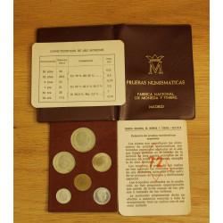 Cartera Pruebas Numismáticas 1972 (*72) Franco FNMT - Proof