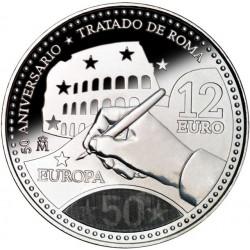12€ PLATA TRATADO DE ROMA