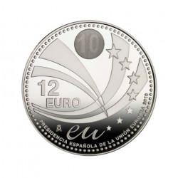 12€ PLATA 2010 U.E.