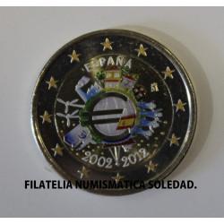2 € X ANIVERSARIO DEL EURO 2012 COLOR