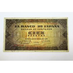 100 PESETAS 20 MAYO 1938