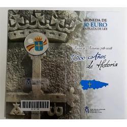 CARTERA MONEDA DE PLATA DE 30 € 2018 ASTURIAS
