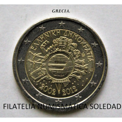 2 € GRECIA 10 A.2012