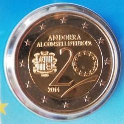 2 € ANDORRA CONSEJO DE EUROPA 2014