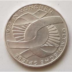 Alemania 10 marcos 1972 XX Juegos Olímpicos de Verano Scheleife (nudo)