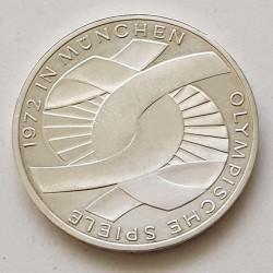 Alemania 10 marcos 1972 XX Juegos Olímpicos de Verano Scheleife (nudo) G