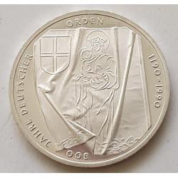 Alemania 10 marcos, 1990 800avo Aniversario - Orden Teutónica J