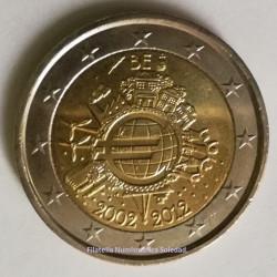 2 € BÉLGICA X ANIVERSARIO DEL EURO 2012