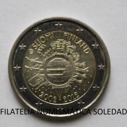 2 € FINLANDIA X ANIVERSARIO DEL EURO 2012