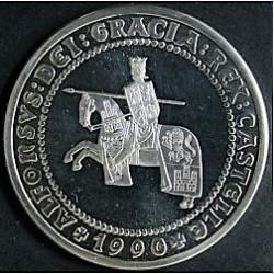 MONEDA DE 5 ECUS DE 1990