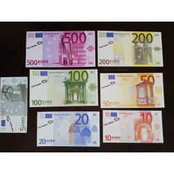 7 BILLETES EURO FACSIMIL