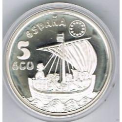 MONEDA DE 5 ECUS DE 1996