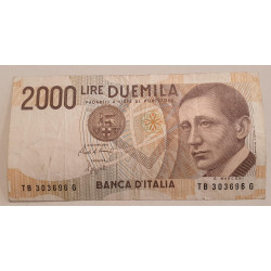 Italia Billete 2000 LIRE GUGLIELMO MARCONI
