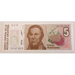 ARGENTINA BILLETE UN AUSTRAL