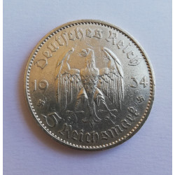 5 Reichs Mark Alemania 1934