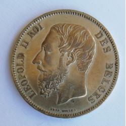 Bélgica 1868 5 Francos