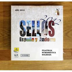 LIBRO FILATELICO 2012 ESPAÑA Y ANDORRA