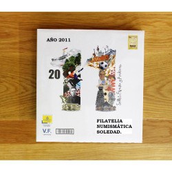 LIBRO FILATELICO CON SELLOS 2011 ESPAÑA Y ANDORRA